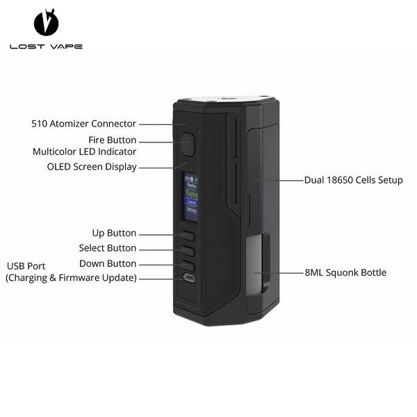 Lost Vape Drone DNA250C Specs