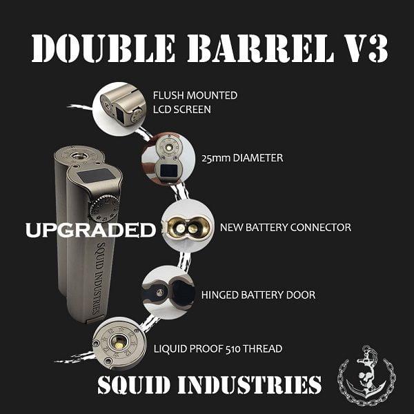 Squid Industries Double Barrel V3 Akkutraeger Sicherheit