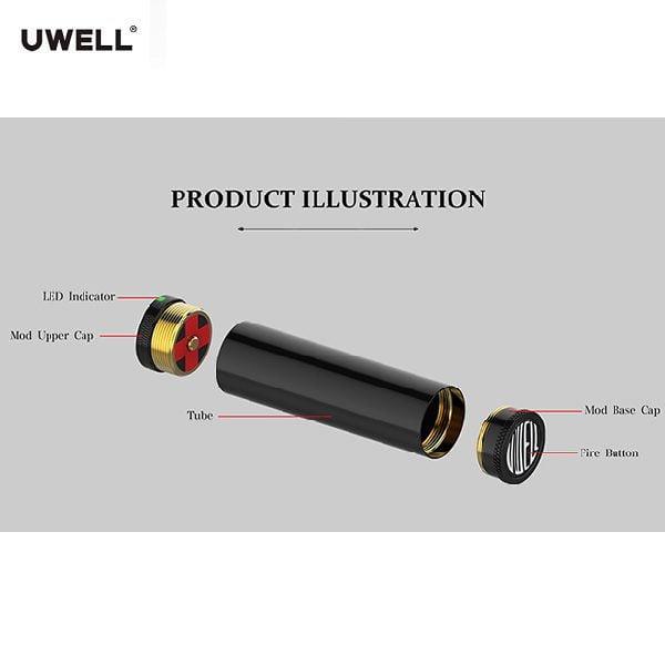 Uwell Soulkeeper Tube Mod 510er Anschluss