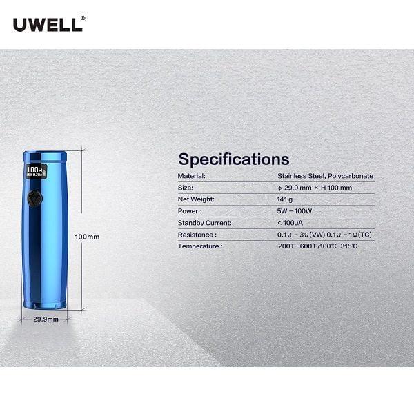 Uwell Nunchaku 2 Akkutraeger Spezifikation