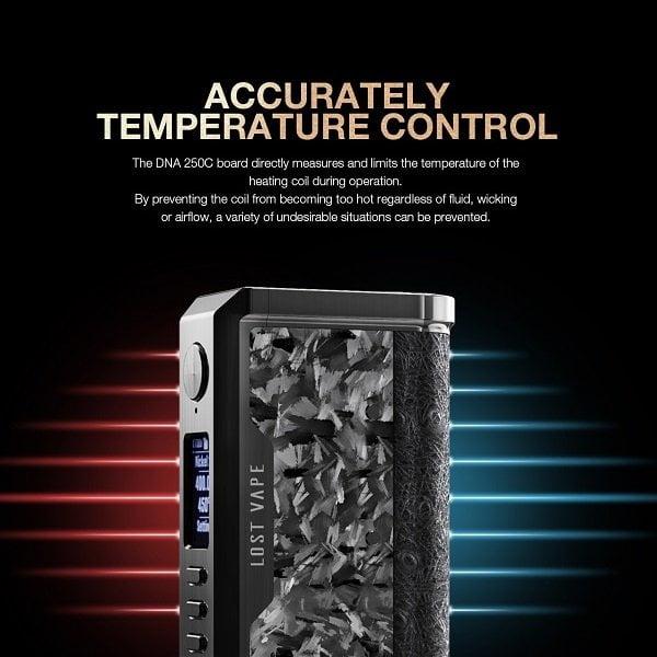 Lost Vape Centraurus Temperature