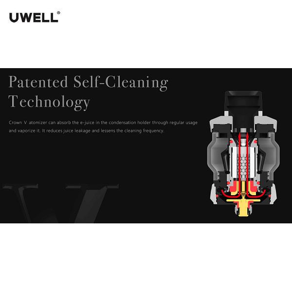 Uwell Crown 5 Selbstreinigung