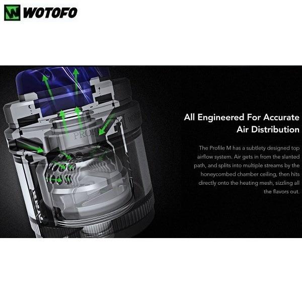 Wotofo Profile M RTA Honeycomb Airflow