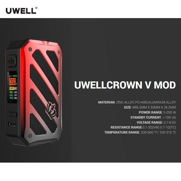 Uwell Crown 5 Set Spezifikation